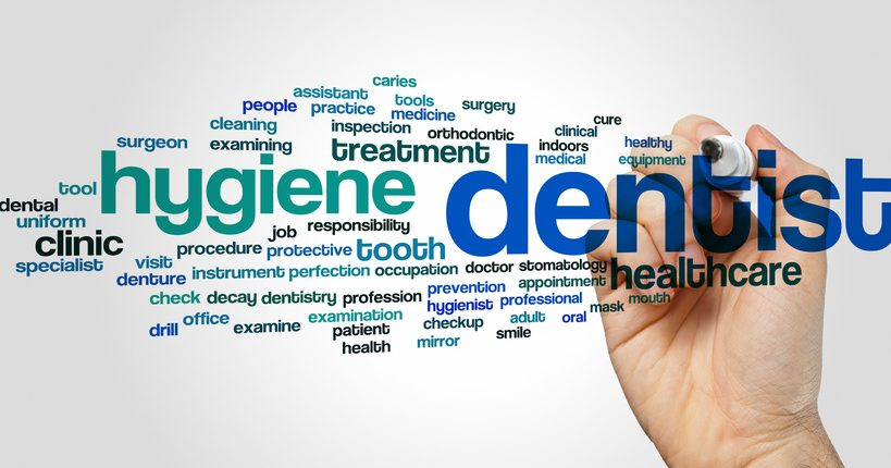 Dentist concept word cloud background